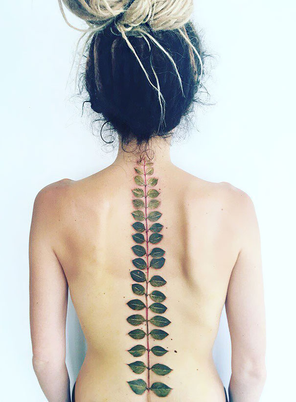 Spine Tattoo Design