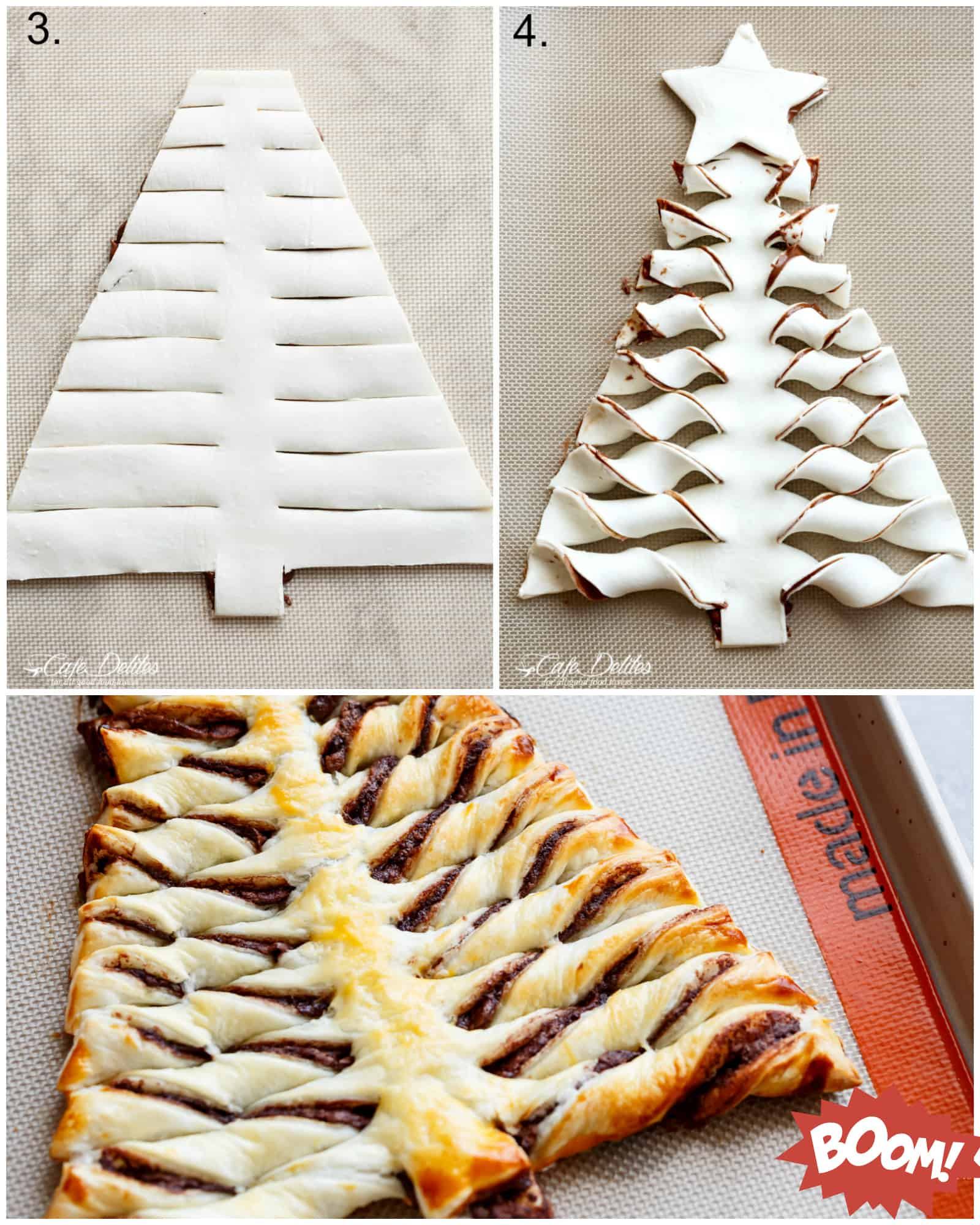 how to make a nutella christmas tree with puff pastry cafedelitescom