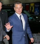 Matt Damon seen leaving the The Late Show with Stephen Colbert in NYC