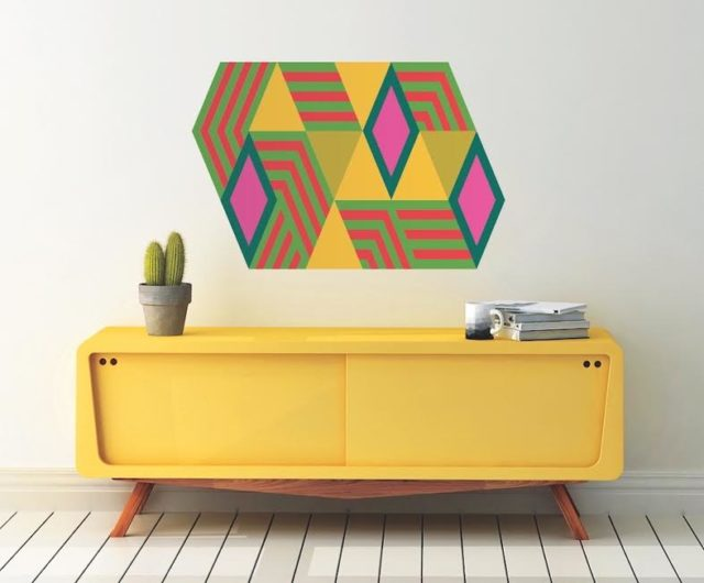 Large scale geometric art for the floor, wall and ceiling 40
