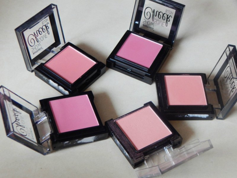 Australis Show Some Cheek Blush Sinful Review All Shades Lid Open