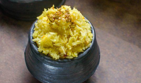 Goan Dessert Sakhar Bhaat Recipe by Archana's Kitchen