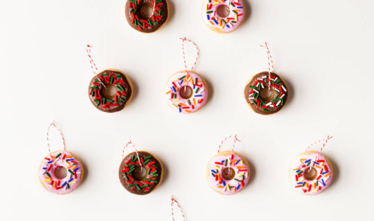 DIY Salt Dough Donut Ornaments