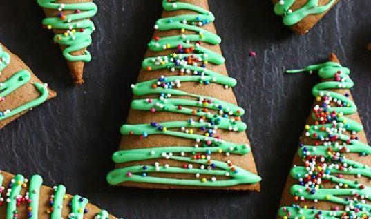 Gingerbread Christmas Tree Cookies | Skinnytaste