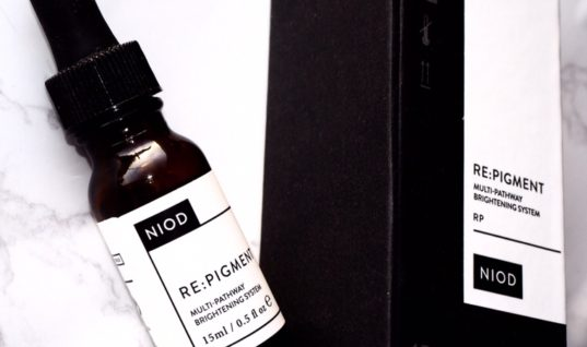 Re Pigment by NIOD review, with close up before and after photos
