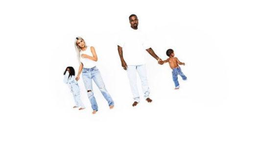 Kim Releases Kardashian Christmas Card BTS Photo With Kanye And The Kids