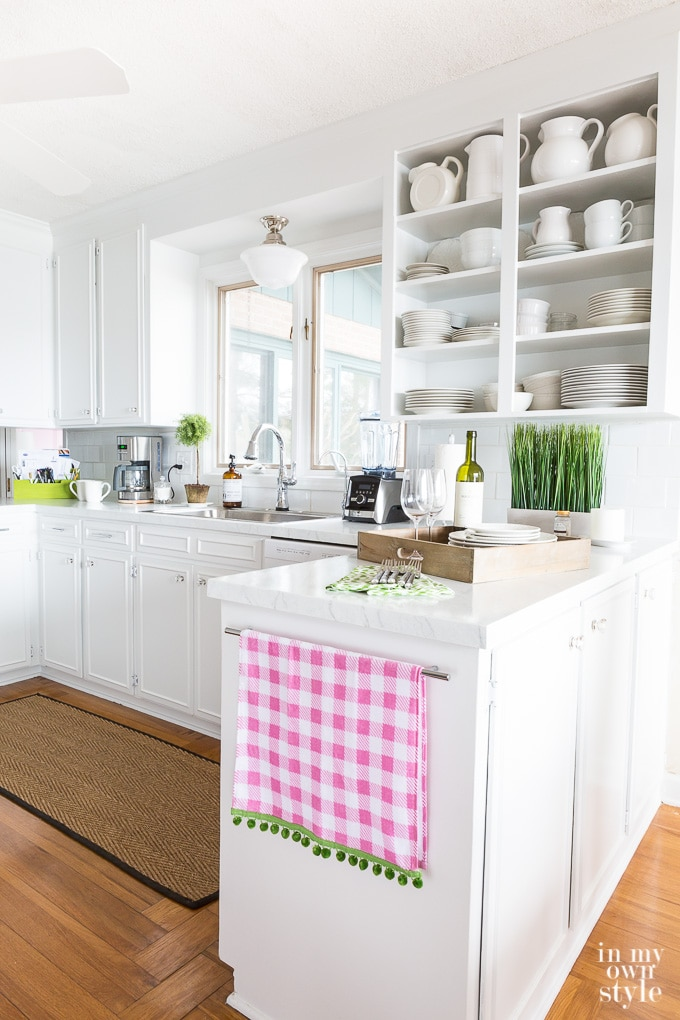 DIY White Kitchen makeover before and after photos