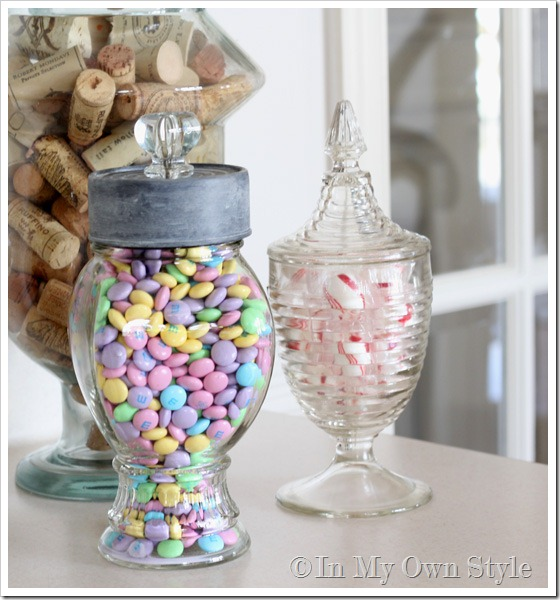 Glass canister decorating ideas