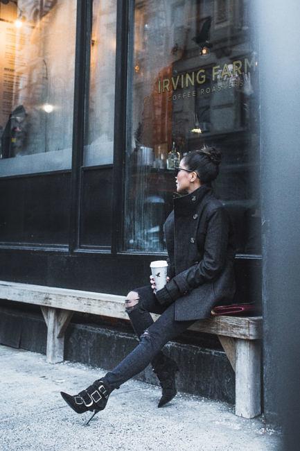 Winter Coats under $150 :: Long coat & Classic peacoat 45
