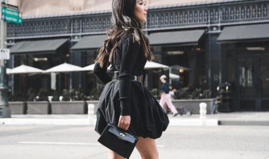 NYC in LA :: Balloon skirt & Hermes Kelly Pochette