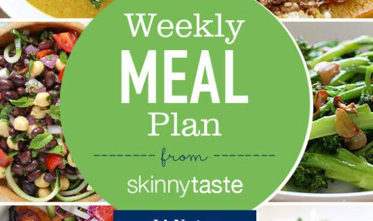 Skinnytaste Meal Plan January 1 – 7