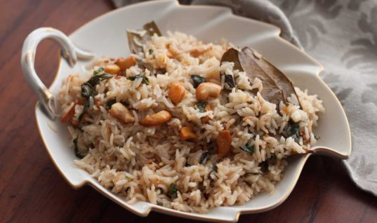 Thengai Paal Sadam Recipe (Coconut Milk Pulao) by Archana's Kitchen