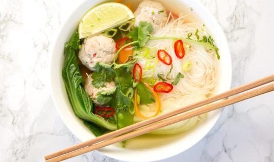 Thai Turkey Meatball Soup – The Petite Cook