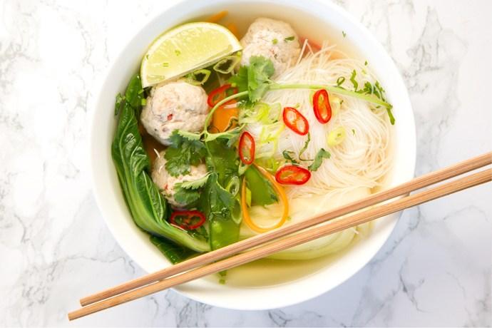 Thai Turkey Meatball Soup - The Petite Cook 36