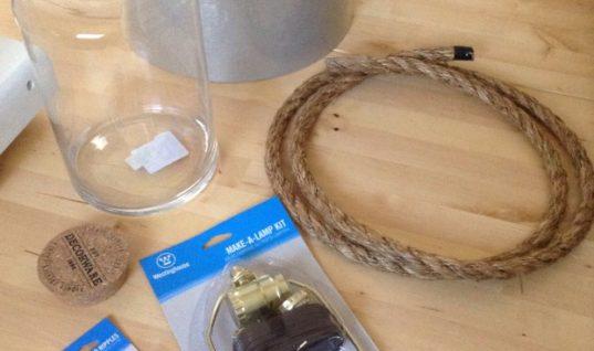 DIY Glass Filler Lamp – Modern Day Moms