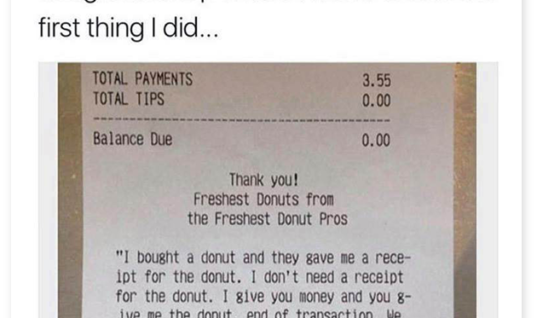 Lamebook – Funny Facebook Statuses, Fails, LOLs and More – The Original » Donut Receipt