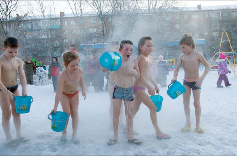 This is how little Siberians learn to love our trademark cold, and stay healthy
