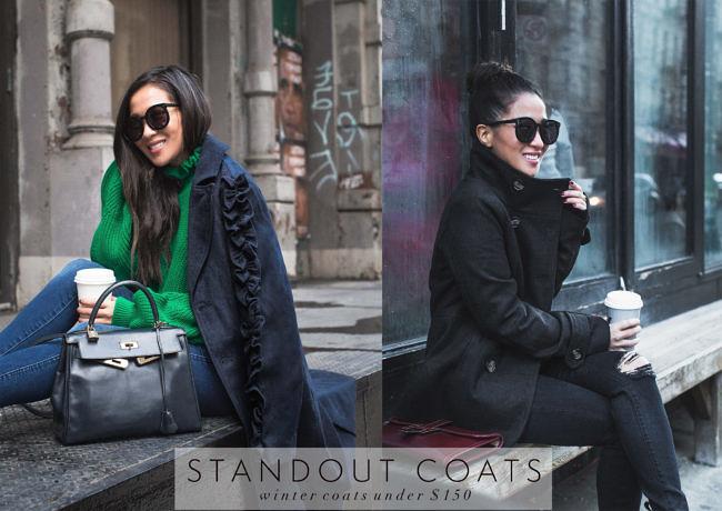 Winter Coats under $150 :: Long coat & Classic peacoat 36