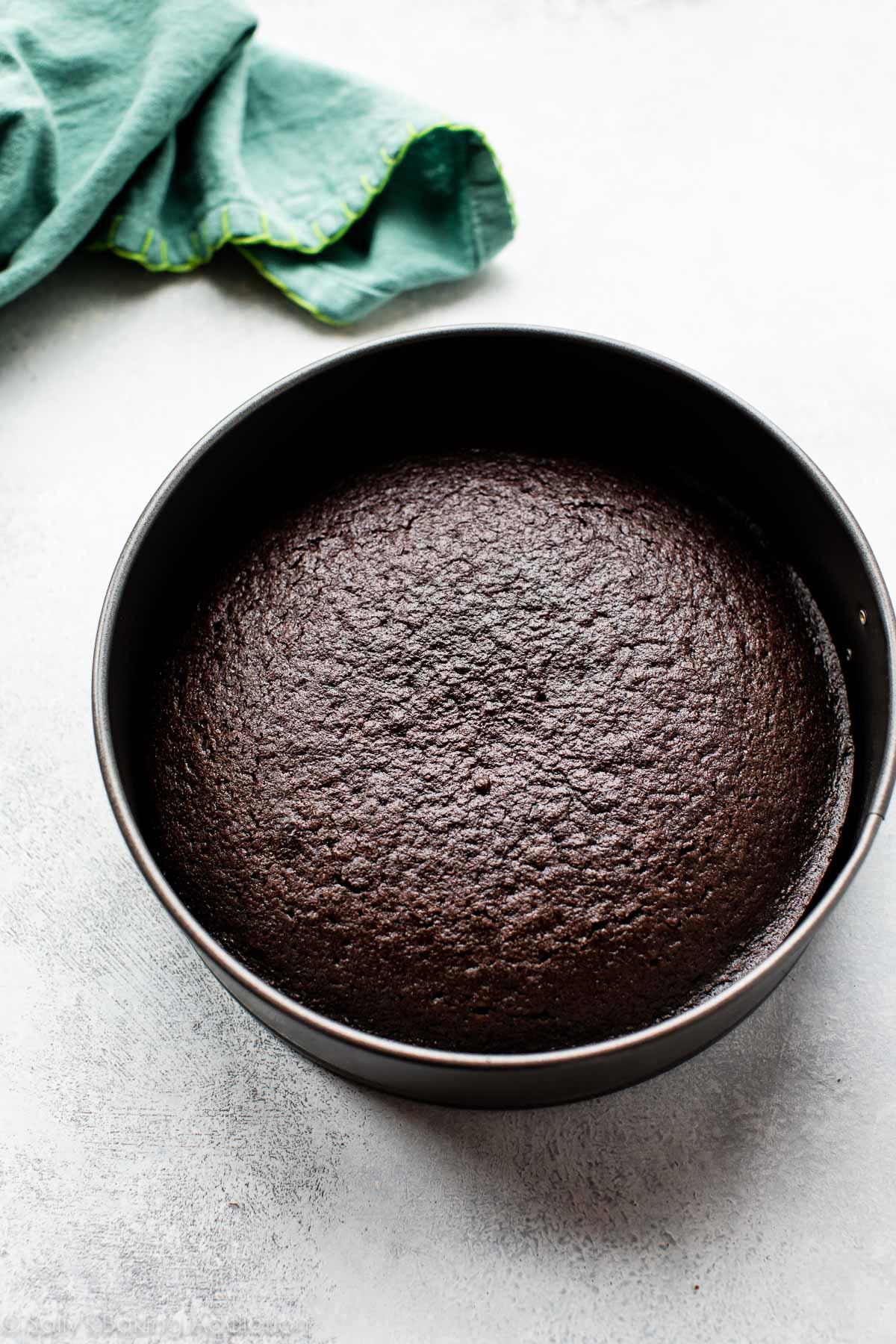 Homemade chocolate cake for chocolate cake pops on sallysbakingaddiction.com