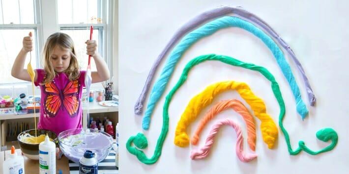 5 Fun Fluffy Slime Recipes - Rainbow Fluffy Slime