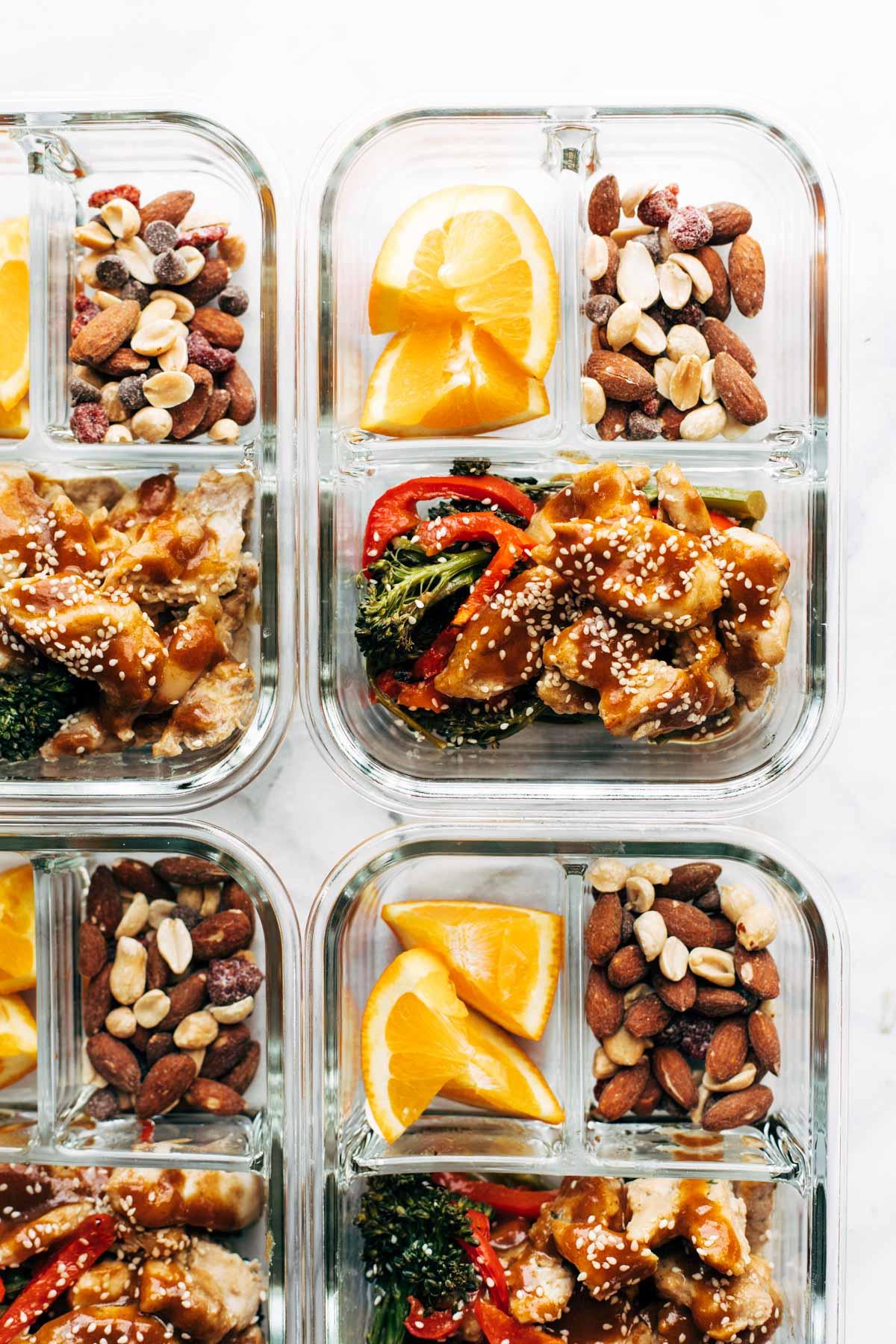 Sheet Pan Garlic Ginger Chicken & Broccoli from pinchofyum.com on foodiecrush.com