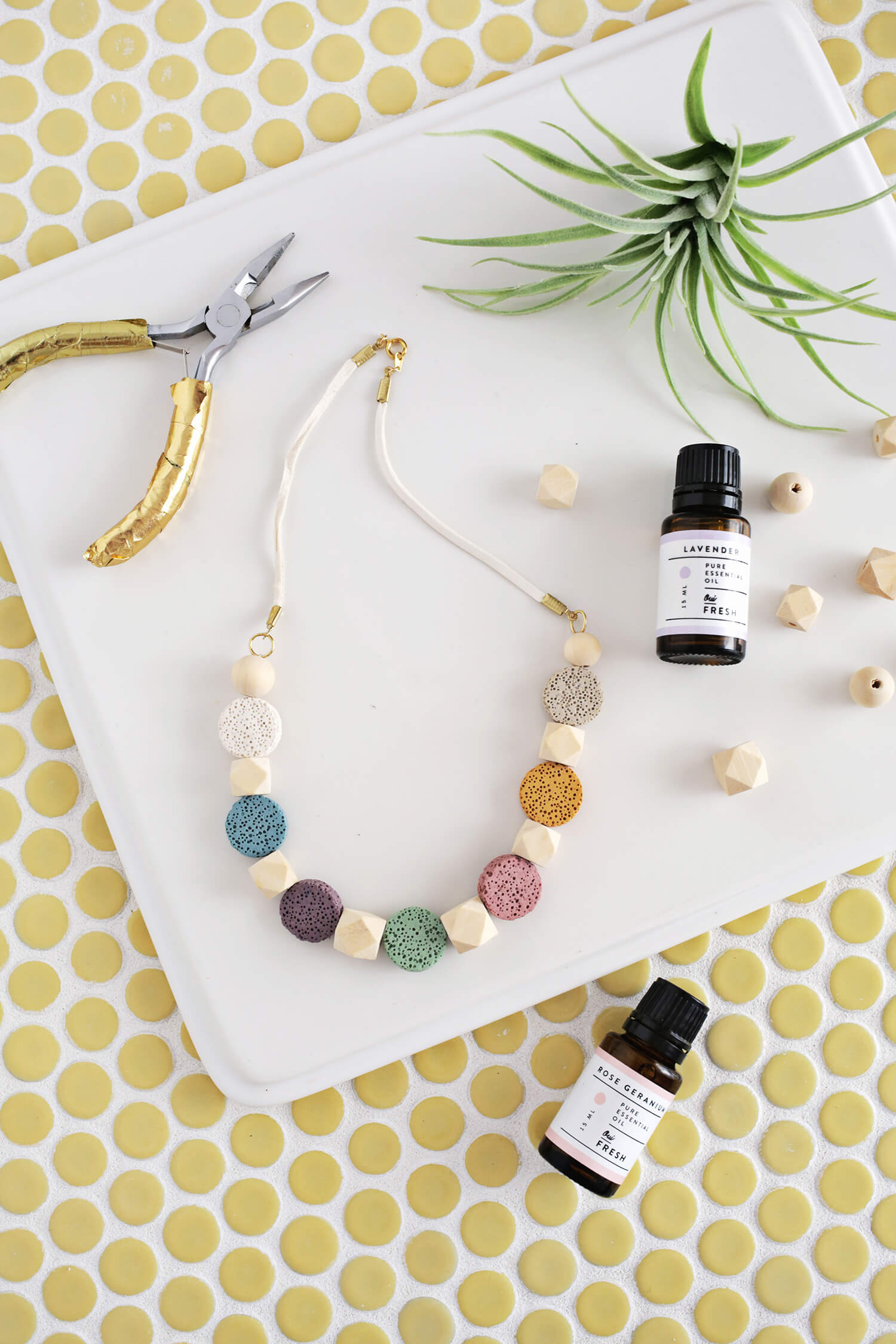 Lava Stone Necklace DIY (for Essential Oils) – A Beautiful Mess 47