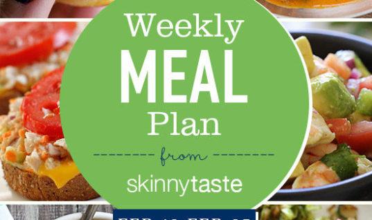 Skinnytaste Meal Plan (February 19-February 25)
