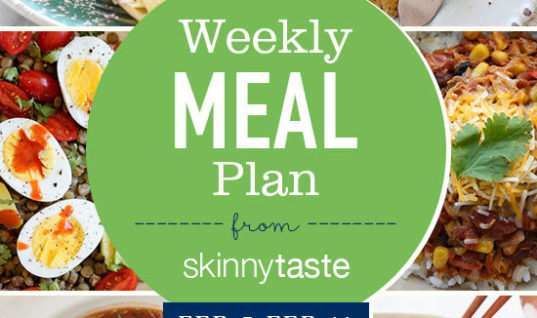 Skinnytaste Meal Plan (February 5-February 11)