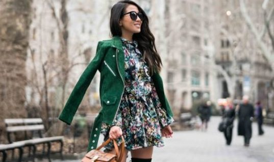 Spring Ready :: Floral dresses & Suede jackets