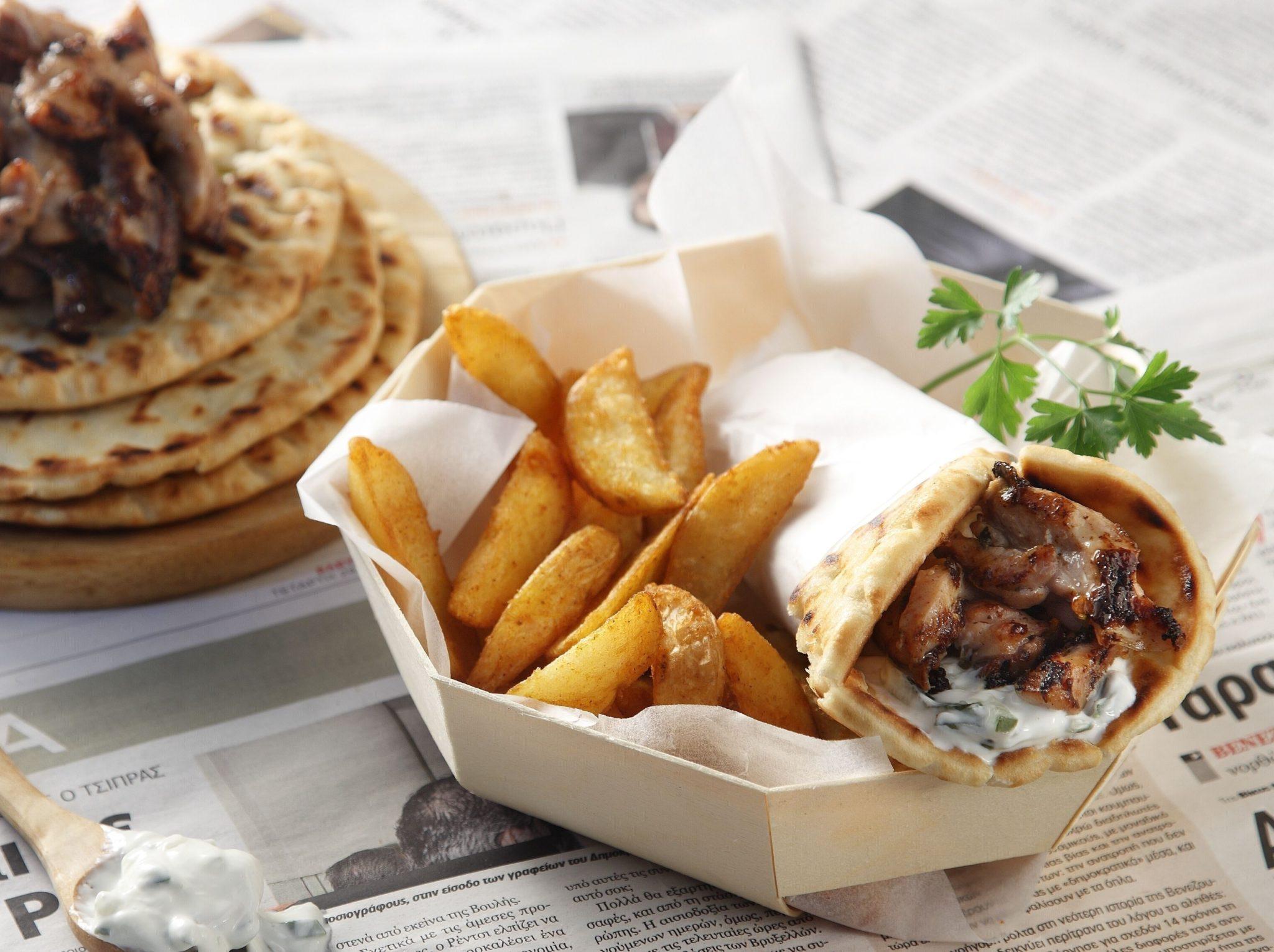 Tasty Greek Pork Gyro Recipe | Akis Kitchen 36