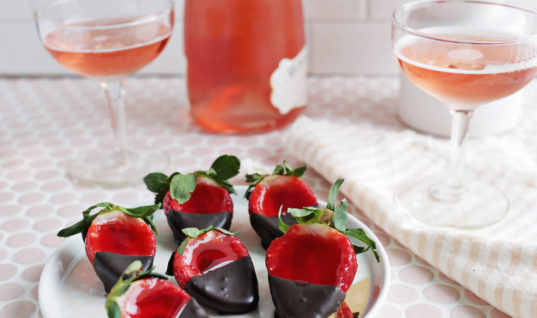 Chocolate-Covered Strawberry Jello Shots – A Beautiful Mess