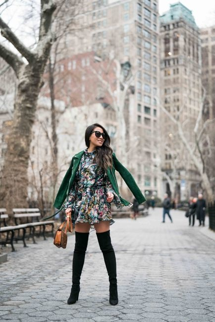 Spring Ready :: Floral dresses & Suede jackets 51