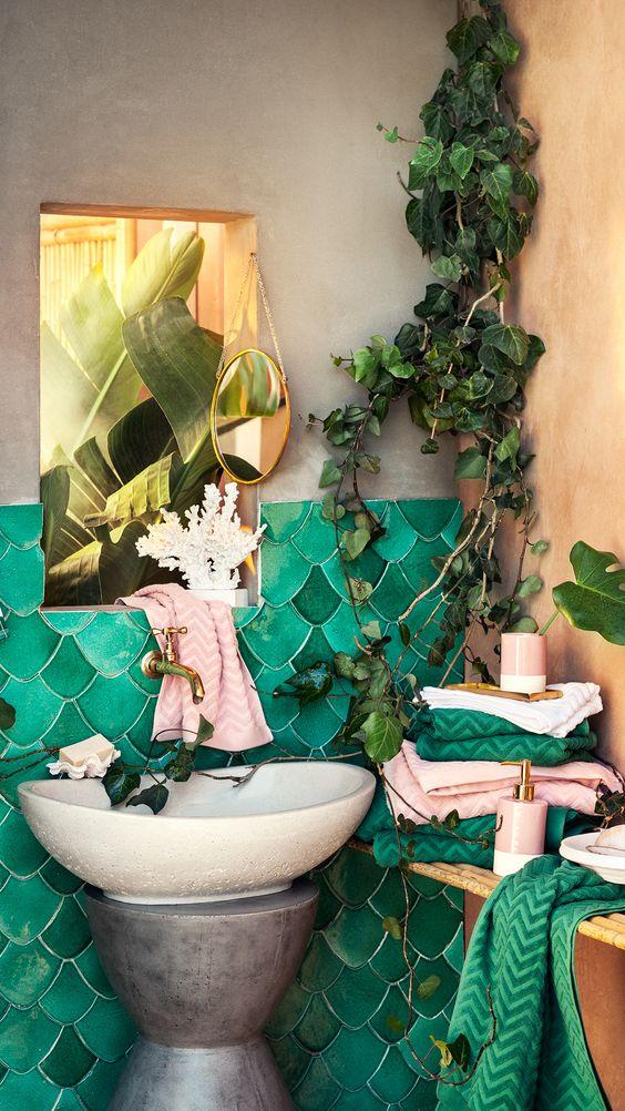 20 Bohemian Bathroom Ideas - Decoholic 63