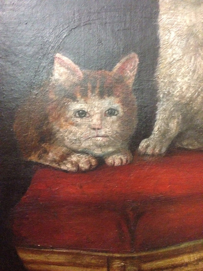 Check out Ugly Medieval Paintings of Cats, it looks like the medieval painters never laid eyes on a cat. 81