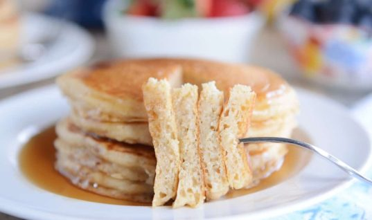 Fluffy Buttermilk Overnight Pancakes Recipe