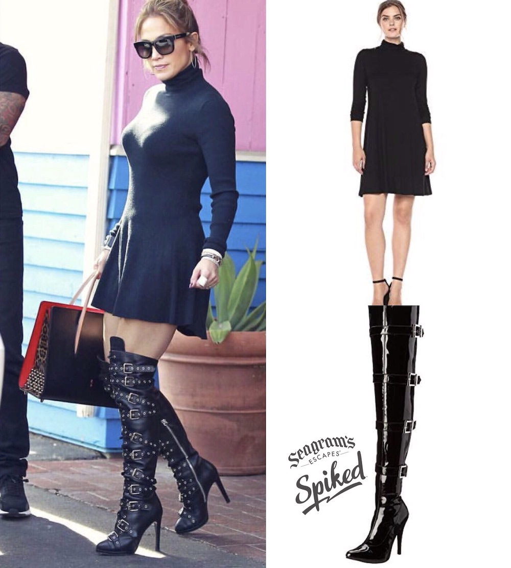 Great Taste for Less with Seagram's Escapes Spiked: Charlize Theron's Saint Laurent Look for Less + Jennifer Lopez's Black Dress and Boots for a Steal! 59