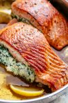 Creamy Spinach Stuffed Salmon in Garlic Butter 41