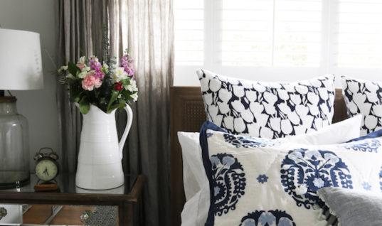 Master Bedroom Makeover – New Bed, Rug & Bedding!