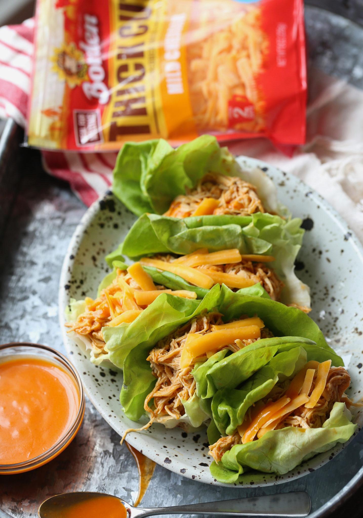 Slow Cooker Buffalo Chicken Lettuce Wraps 52