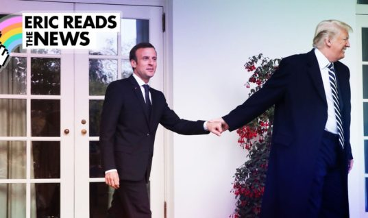 I Can't Stop Staring at This Photo of Trump Walking Macron Like a Puppy / Elle.com
