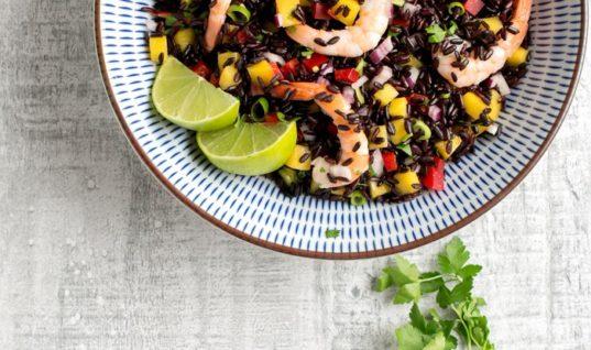 Black Rice Salad with Shrimp & Mango Salsa Recipe