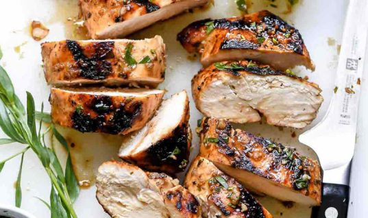 Mediterranean Grilled Balsamic Chicken and Olive Tapenade