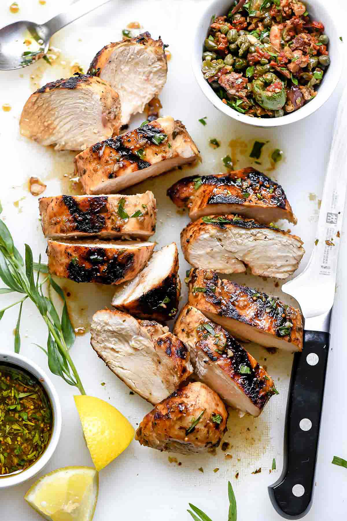 Mediterranean Grilled Balsamic Chicken and Olive Tapenade 36