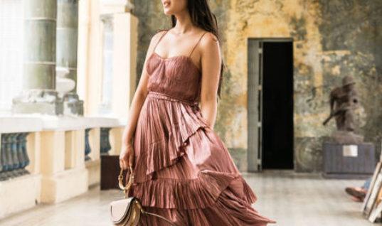 Like a Painting :: Ruffle midi dress & Wavy braids