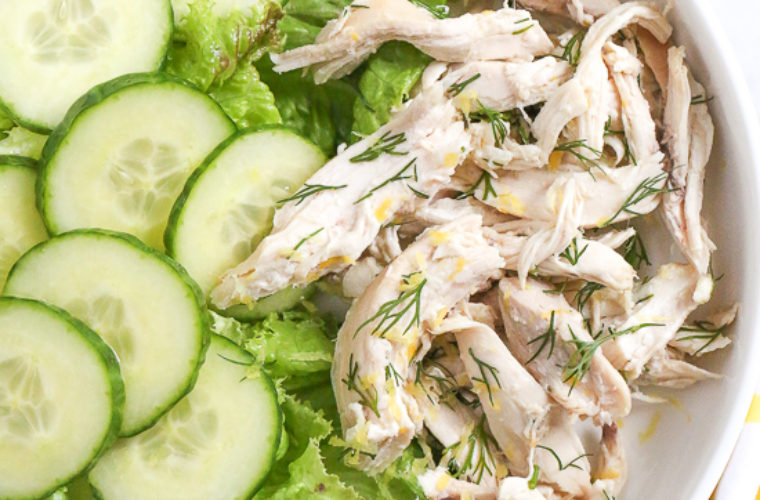 Simple and Healthy Chicken Salad with Lemon and Dill Recipe