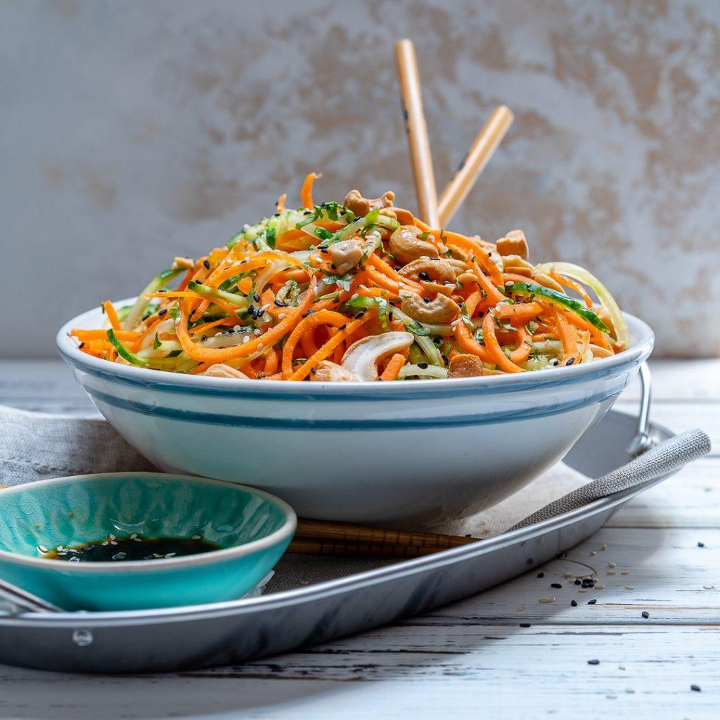 Thai Veggie Noodle Salad Ingredients
