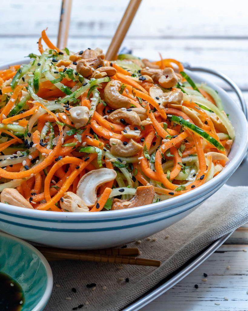 Thai Veggie Noodle Clean Eating Salad Recipe