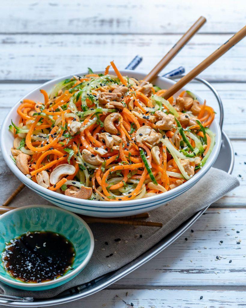 Healthy Thai Veggie Noodle Salad Recipes