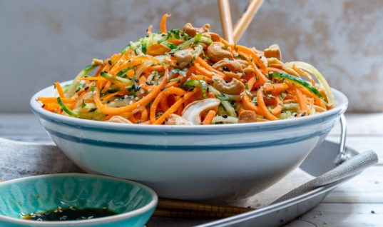Summer Thai Veggie Noodle Salad to Reduce Water Weight!