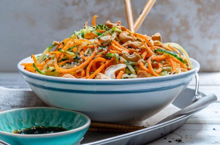 Summer Thai Veggie Noodle Salad to Reduce Water Weight!